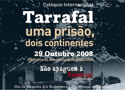 imagem do cartaz do colóquio do Tarrafal