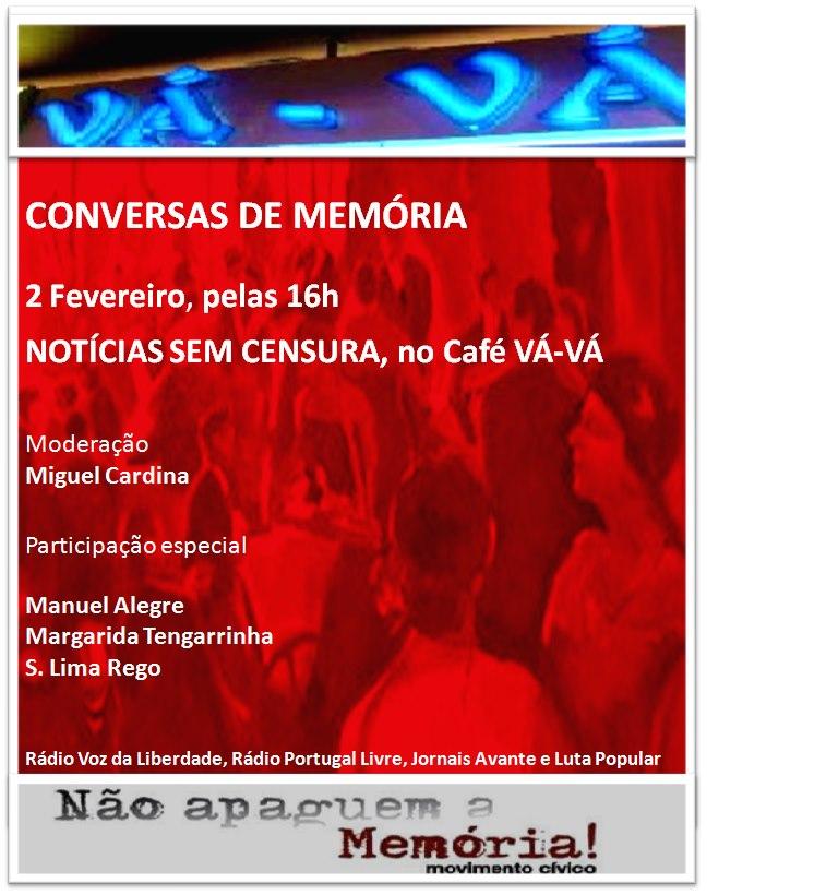 Conversas de memória - Notícias sem censura - 2 Fev