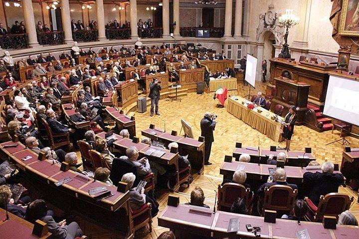 Sessão na A.R. (fotografia de José Gema) | Homenagem aos advogados dos presos políticos nos Tribunais Plenários (1945-1974)