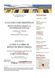Bento Jesus Caraça (cartaz)